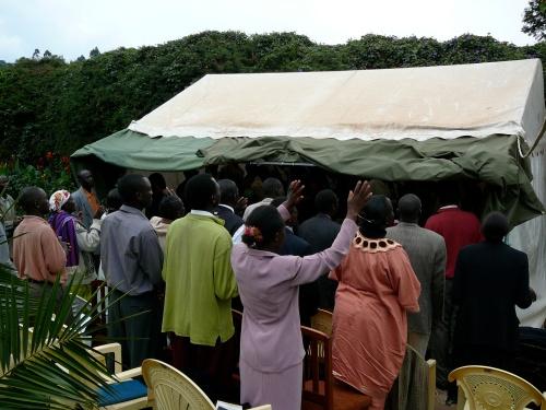 Worship service Nandi Hills, Kenya